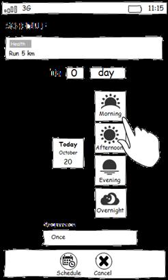 Schedule-mockup